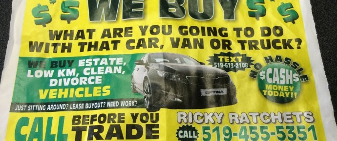 Get cash for my car in London Ontario